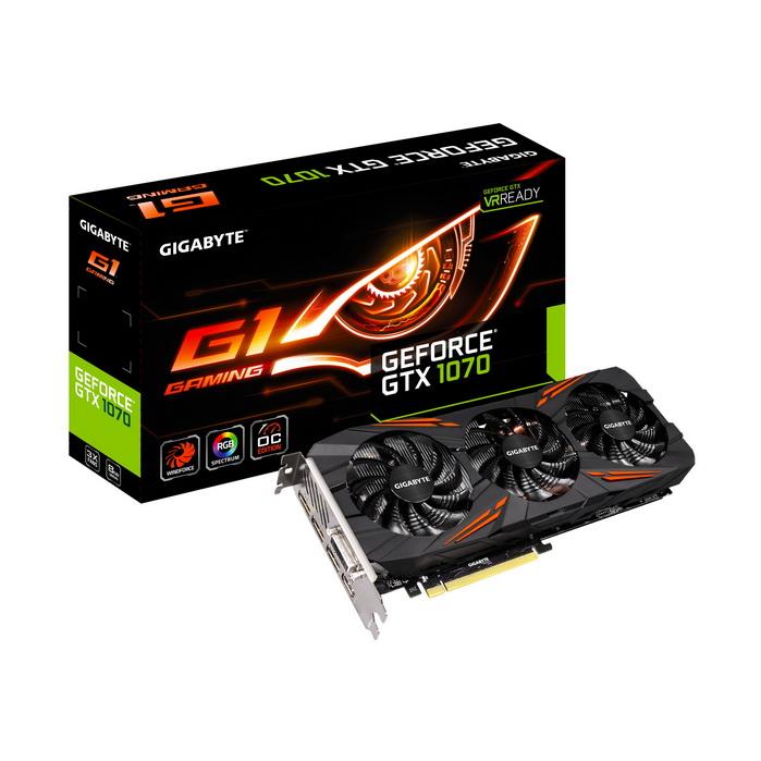 GIGABYTE NVIDIA GEFORCE GTX 1070 G1 GAMING 8GB ( 256 BIT ) DDR5
