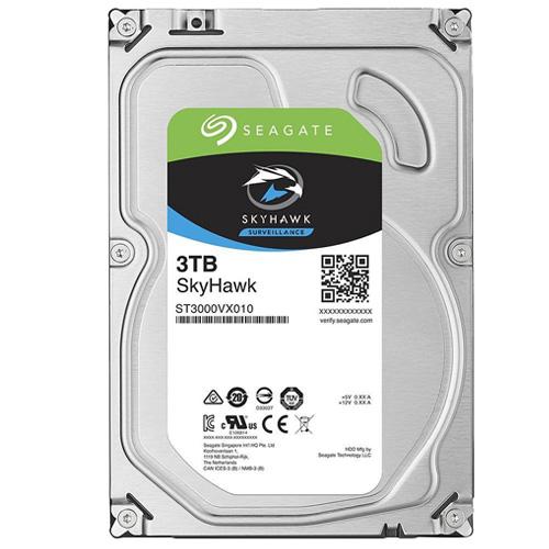 HDD Seagate Skyhawk 3TB 64MB ST3000VX010 dòng chuyên dụng camera hoạt động 24/7, tiết kiệm điện năng
