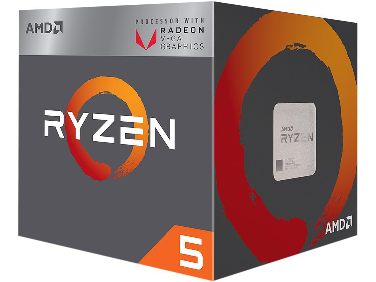 AMD RYZEN 5 2400G Quad-Core 3.6 GHz (3.9 GHz Turbo)