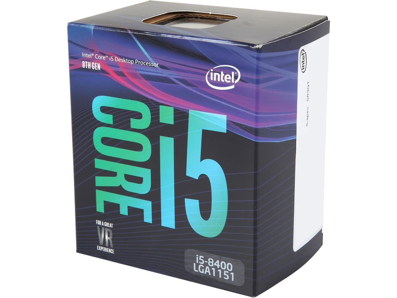 Intel Core i5-8400 Coffee Lake 6-Core 2.8 GHz (4.0 GHz Turbo) LGA 1151v2